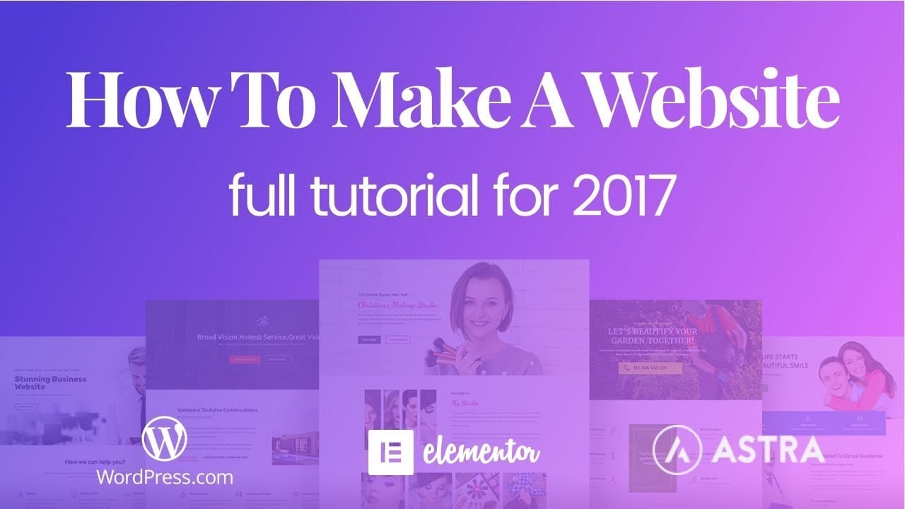 How to Make A Business Website Using WordPress & Elementor