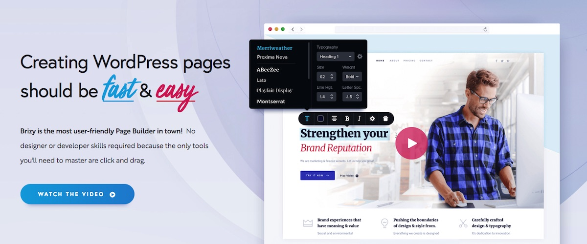 Brizy Review (September 2019) - Pros & Cons WordPress Page