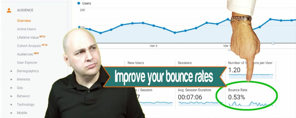 Analytics can help you improve your bounce rates