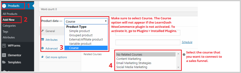 add a new product-course