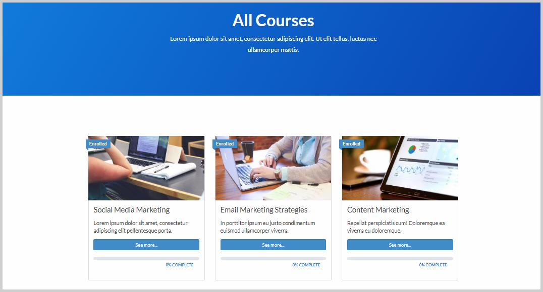 learndash academy all courses