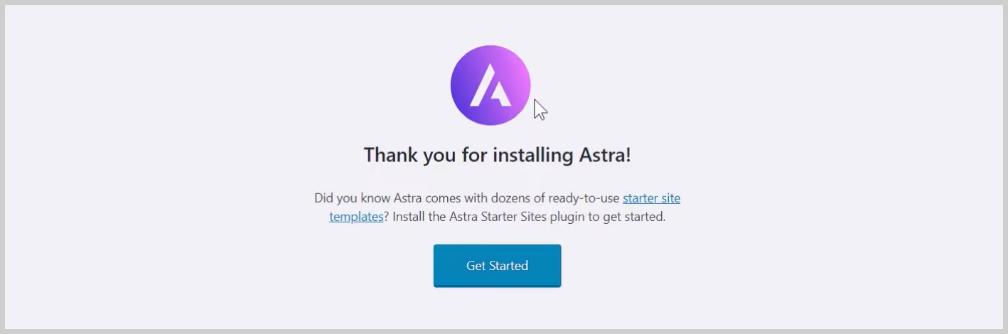 Astra starter site
