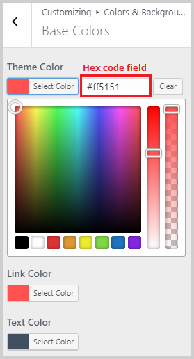 base color editor