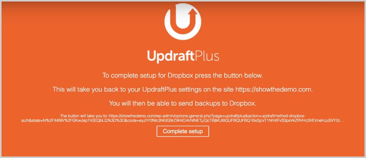 complete setup updraftsplus backups