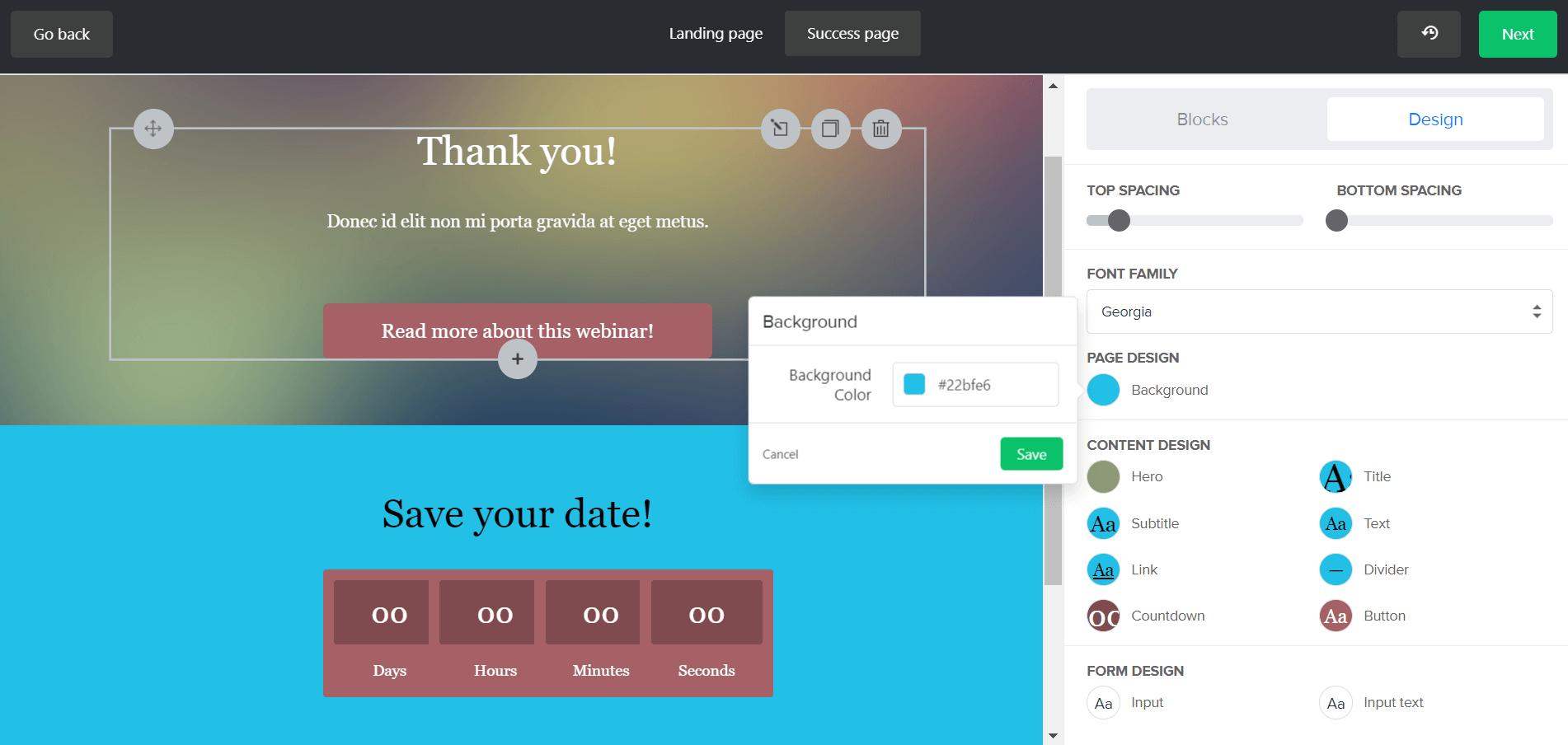 MailerLite Forms Design Landing Page 3